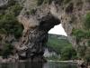 Der Pont d'Arc am Anfang der Ardèche-Schlucht
