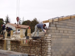 Bau des Ferienhauses im Frühjahr 2005