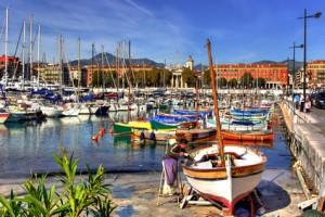 Hafen von Nizza, Côte d'Azur, Frankreich
