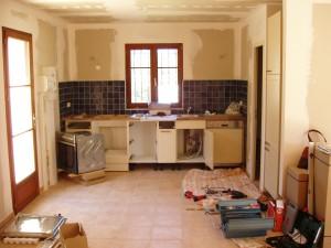 Installation der Einbauküche