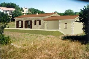 Aus dem Bauantrag - das Haus in 3D im Grundstück